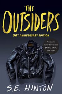 A cover photo of the 50th Anniversary Edition of the book The Outsiders