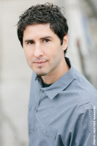 A photo of YA literature author Matt de la Peña