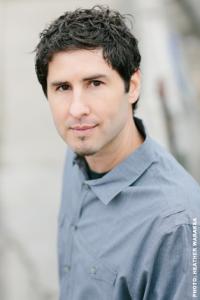 A photo of YA literature author Matt de la Peña
