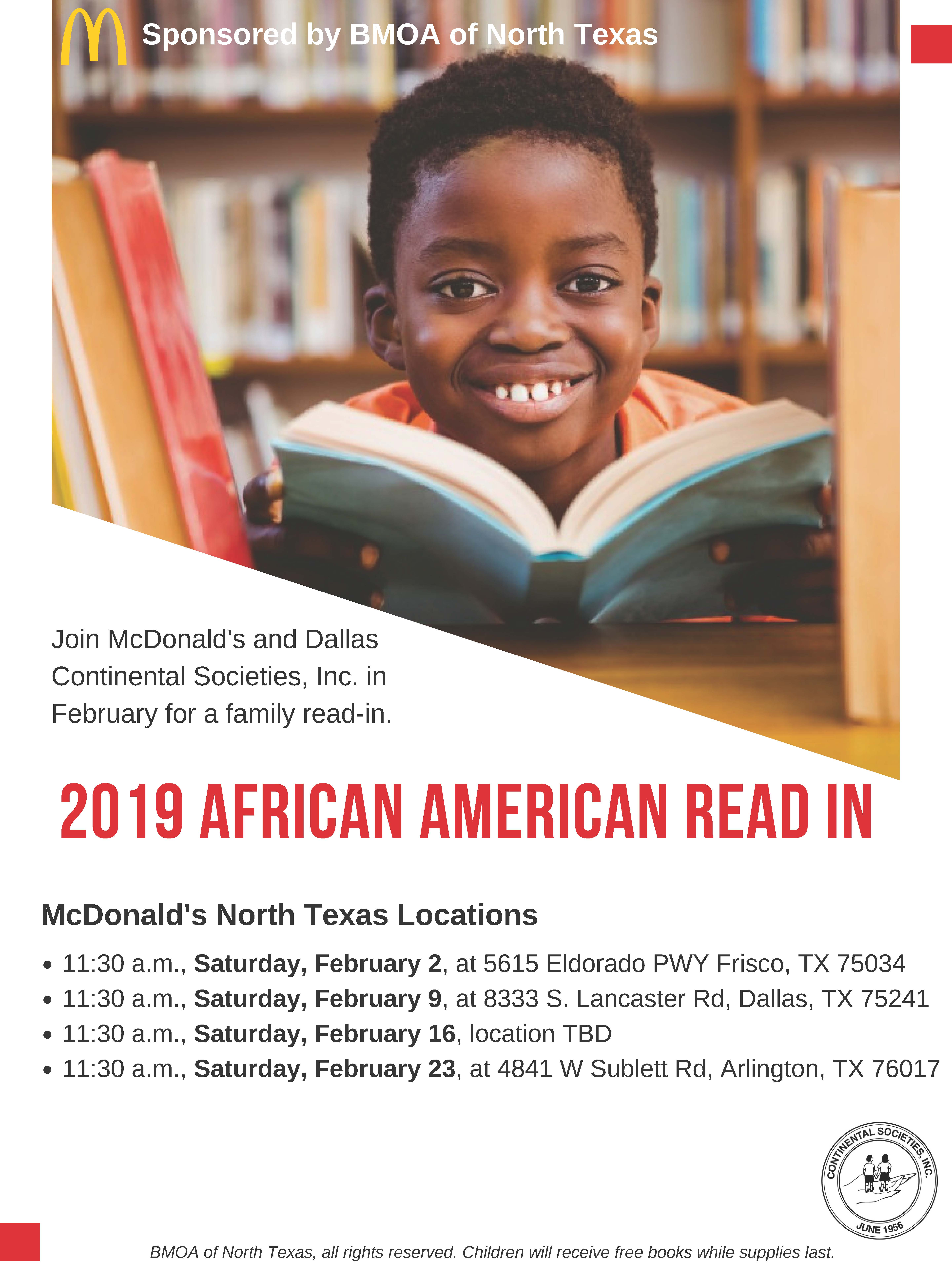 2019 African American Read In At The Mcdonalds In Frisco Tx Ncte